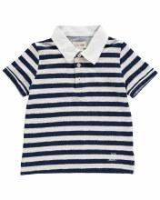 Me & Henry Navy Striped Polo