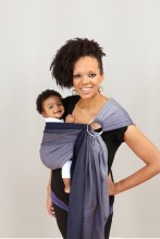 Maya Wrap Lightly Padded Ring Sling in Blue Ombre