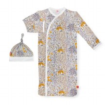 Magnetic Me Modal Newborn Gown & Hat Set Sumatra