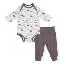 Magnetic Me Modal Bodysuit + Harem Pant Tiny Tundra