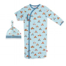 Magnetic Me Modal Newborn Gown & Hat Set Easy Rider