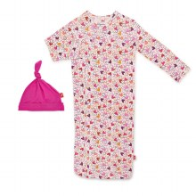 Magnetic Me Modal Newborn Gown & Hat Set Heart to Heart