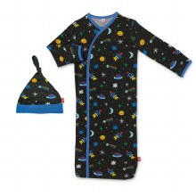 Magnetic Me Modal Newborn Gown & Hat Set Space Chase