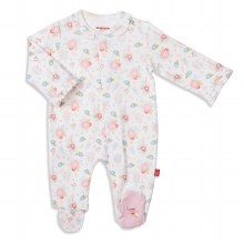 Magnetic Me Organic Cotton Footie in Nottingham Floral