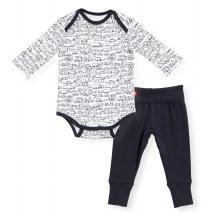 Magnetic Me Organic Cotton Bodysuit + Harem Pants