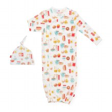 Magnetic Me Organic Cotton Gown + Hat Set Better Together