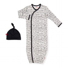 Magnetic Me Organic Cotton Gown + Hat Set Going Places
