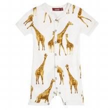 Milkbarn Bamboo Shortall Giraffe 3-6m