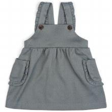 Milkbarn Dress Overall Denim 3-6m