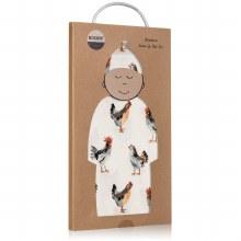 Milkbarn Organic Newborn Gown & Hat Set in Chicken