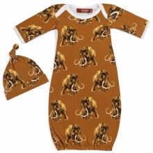 Milkbarn Newborn Gown & Hat Set Woolly Mammoth