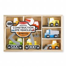 Melissa & Doug Wooden Construstion Site Vehicles
