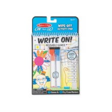 Game On Write-On / Wipe-Off Activity Games Pad