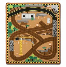 Melissa & Doug Round the Site Con Rug