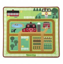 Melissa & Doug Round the Barnyard Rug