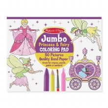 Jumbo Coloring Pad Princesses and Fairies