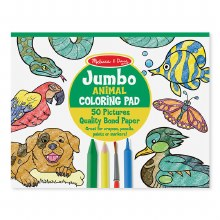 Jumbo Coloring Pad Animals