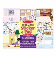 Melissa & Doug Reusable Sticker Pad Play House