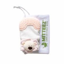 Mitteez Organic Teething Mitty- Pea Bear Pink
