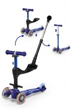 Mini 3 in 1 Deluxe Plus Scooter Blue
