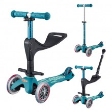Mini 3 in 1 Deluxe Plus Scooter Icy Blue