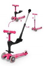 Mini 3 in 1 Deluxe Plus Scooter Pink