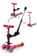 Mini 3 in 1 Deluxe Plus Scooter Red