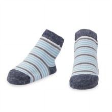 MudPie Blue Striped Socks