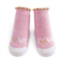 MudPie Pink Love Socks