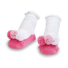 MudPie Pink Mesh Puff Socks