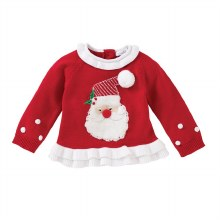 MudPie Red Santa Sweater Large