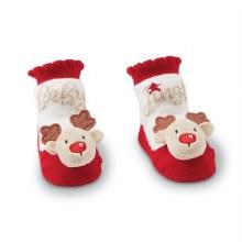MudPie Reindeer Rattle Sock