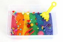 Messy Play KitsSensory Bin Rainbow