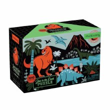 Dinosaurs Glow-In-The-Dark 100-Piece Puzzle