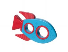 3D Rocket Ship Silicone Teether