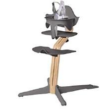 Nomi High Chair Gray/White Oak