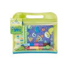 Ooly Mini Traveler Coloring & Activity Kit: Dinosaurs in Space