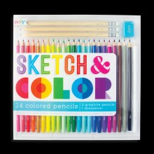 Ooly Sketch & Color Colored Pencils, Graphite Pencils  &Sharpener Set
