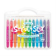 Ooly Smooth Stix Watercolor Gel Crayons 24-Pack