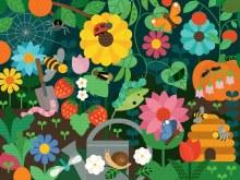 24-Piece Floor Puzzle Secret Garden