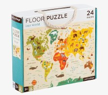 24-Piece Floor Puzzle Our World