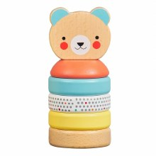 Petit Collage Happy Bear Wooden Stacker