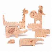 Petit Collage Wood Puzzle and Play Set Safari