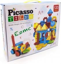 120 Piece Bristle Lock Basic Building Tiles Set