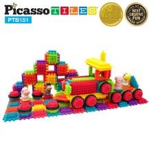 151 Piece Truck Theme Bristle Shape Set