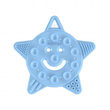 Poppies Smiley Star Teether Blue