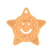 Poppies Smiley Star Teether Orange Sherbert
