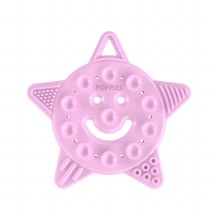 Poppies Smiley Star Teether Pink