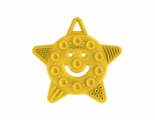 Poppies Smiley Star Teether Yellow