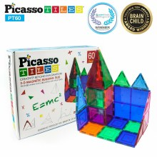 60 pc Magnetic Puzzle Cubes Sensory Toy Set